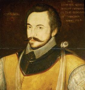 Sir Humphrey Gilbert, colonel of Munster 1569–71, who ordered the decapitation of entire villages in order to have the path to his tent decorated with 'a lane of heddes' prior to inviting the submission of local chiefs and leaders. (NTPL)