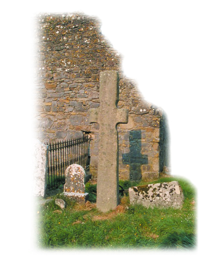 Standing cross near the ruins of Sleaty church, Co. Carlow. Aed, bishop of Sleaty, commissioned Muirchíº to write up the Patrick legend.