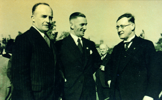 Dr Eduard Hempel, Dr Vogelsang and Dr Adolf Mahr at the German legation's garden party in Dublin, 1938.