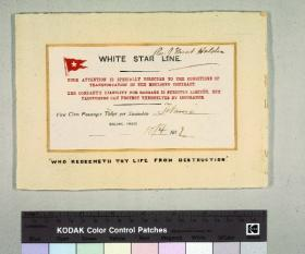 The other known surviving Titanic ticket, at the Merseyside Maritime Museum. (National Museums Liverpool)
