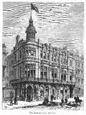 The Reform Club, Royal Avenue, Belfast, headquarters of the Ulster Liberals. (Industries of the North, 1891)