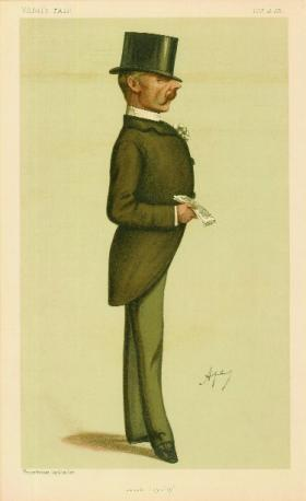 Col. E.J. Saunderson—one of the leading figures in forging a single pro-union Irish party in early 1886. (Vanity Fair)