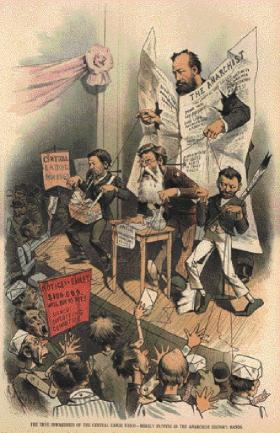 'The true inwardness of the central labor union—merely puppets in the anarchist editor's hands.'