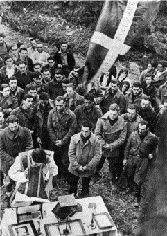 Basque soldiers celebrate Mass before battle, 1937. (David Seymour, Magnum Photos, Inc.)