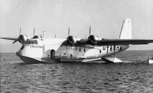 Imperial Airways Short S.23 G-ADHM Caledonia-one of the first flying boats into Foynes in 1937. (Foynes Flying Boat Museum)