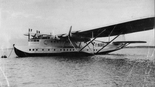 On 15 July 1938 an Air France flying boat, a Latecoere 521 F-NORD, Lientenant de Vaisseau Paris arrived at Foynes. (Foynes Flying Boat Museum)