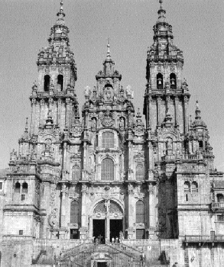 The cathedral at Santiago de Compostela.