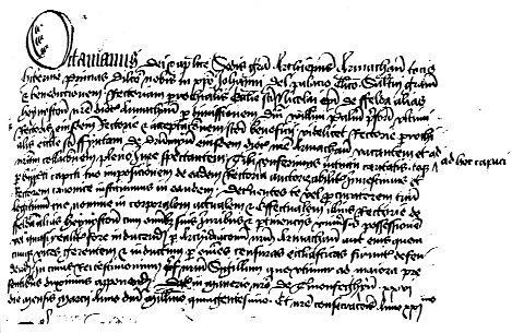 Letter of Archbishop Octavian collating John Del Palagio (his son!) to Haynestown, County Louth. (PRONI and Armagh Public Library)