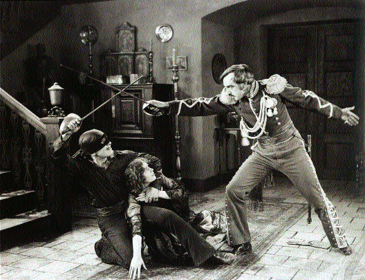 Hollywood takes over-Douglas Fairbanks in The Mark of Zorro (1920).