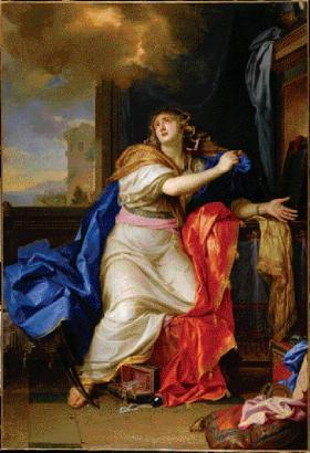 The Penitent Magdalene by Charles le Brun, c. 1650—this painting in particular captivated Tone: 'The Magdalen of le Brun is, in my mind, worth the whole collection'. (RMN, Paris)