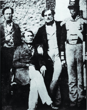 William Smith O'Brien (seated) and Thomas Francis Meagher under guard while under sentence of death.