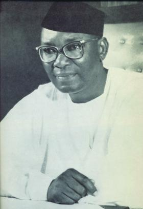 The first president of independent Nigeria, Dr Nnamdi Azikiwe.