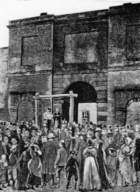Execution of Thomas Russell at Downpatrick Jail, October 1803. (Ulster Journal of Archaeology)