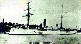 She was followed on 2 May by another German cruiser, Bussard