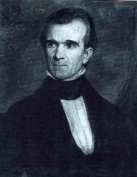 US President James Polk made a $50 donation: a Boston newspaper declared scornfully that it was too small and had to be 'squeezed' out of him. (Tennessee Historical Society)