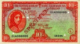 Three series of Irish banknotes were issued, initially by the Irish Currency Commission (1928-1943), and thereafter by the Central Bank of Ireland: the 'A' series from 1928 to the early 1980s [although the 10s. note went out of circulation in 1971]