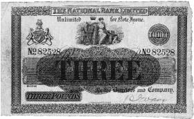 A 1913 National Bank three pound note. (Bank of Ireland)
