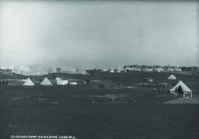 The Curragh camp—the British army was a major employer, so many Kildare families weren't eager to sever all links with the empire. (National Library of Ireland)