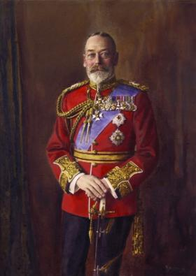 King George V—visited Maynooth in July 1911. (National Portrait Gallery)