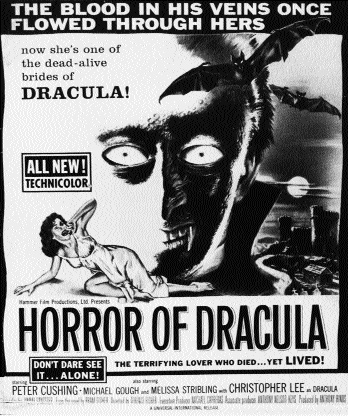 Poster for Hammer's Horror of Dracula (1958)-it may be closer than you think!