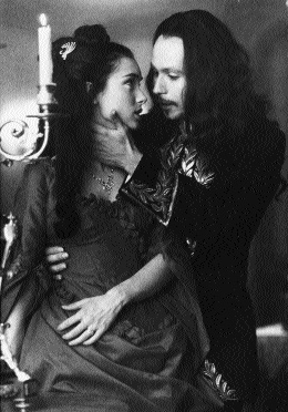 Winona Ryder as Mina and Gary Oldman as Dracula in Bram Stoker's Dracula (1992)-could Stoker have been influenced by Irish legends of vampire-kings?