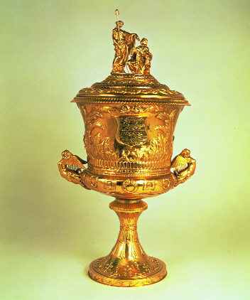 The gold cup presented to William Smith O'Brien at Melbourne in 1854. (National Museum of Ireland)