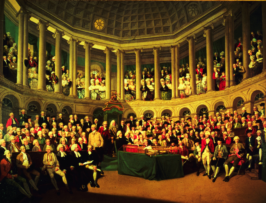 history francis wheatley s painting of the irish house of commons in 1780 provides a striking visual record