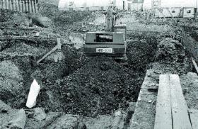 Wood Quay, 1978—'Parts of the site were sheared away and I did not get a chance to examine them. I thought that would be the worst day ever in Irish archaeology'.