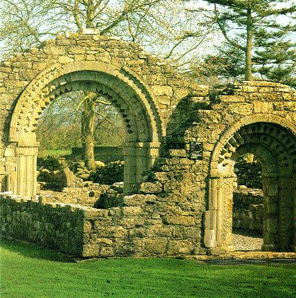 The Nuns' Church, Clonmacnoise, Co. Offaly, completed by Dervorgilla in 1167. (Díºchas)
