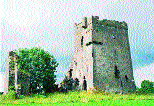 Srah Castle in the townland of Ballydrohid on the outskirts of Tullamore-a tower-house built by an English settler, John Briscoe of Cumberland, as early as 1588.