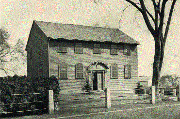 The parish church of St Paul, Narragansett, Rhode Island, where MacSparran served as rector for 37 years after his return to America in April 1721. Built in 1707 and originally located in North Kingstown, RI, in 1800 it was relocated to Wickford, RI, where this photograph was taken in 1907.