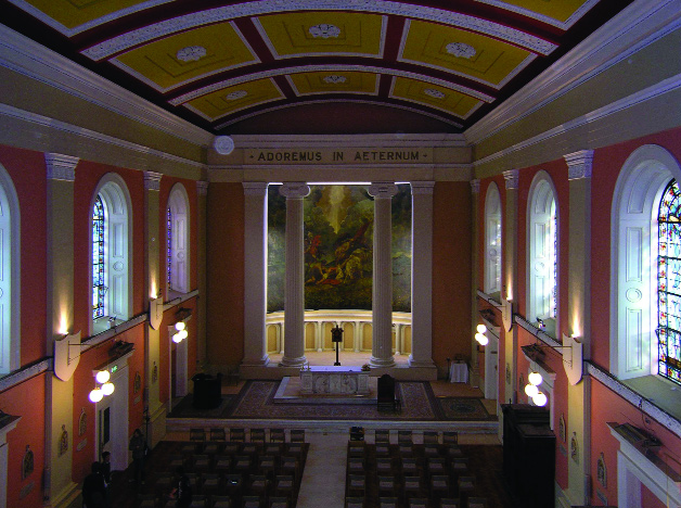 Interior view of St Paul's, looking towards the altar.