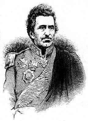 Lieutenant-General Sir George de Lacy Evans, from Moig, County Limerick, distinguished himself at the battles of the Alma and Inkerman.
