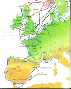 Viking raids, after Graham-Campbell. (The Viking World, p.23)