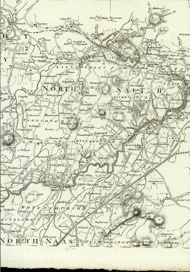 Detail from A Map of the County of Kildare by Lieut. Alex[ander] Taylor, of his Majesty's 81st Regt., 1783. (Andrew Bonar Law)