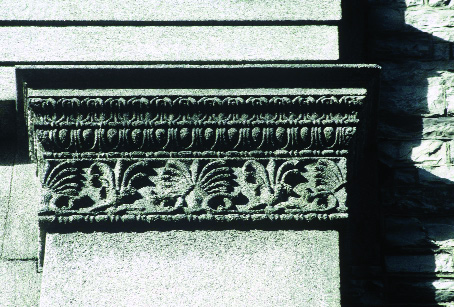 pilaster capital at side of portico