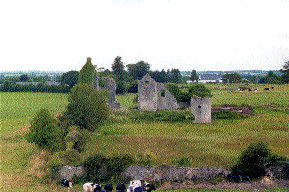 Ballymooney Castle, Oakley Park near Seir Kieran, a fortified house built by the O'Carrolls of Ely O'Carroll.