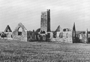 Kilcrea friary, Co. Cork, founded c. 1465 for the Franciscans by Cormac, son of Tadhg MacCarthy, lord of Muskerry. (OPW)