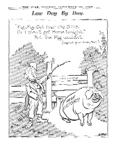 The coins were condemned by their detractors for putting forward the pig, long associated with the Irish in caricature, as an appropriate symbol of the Irish nation.