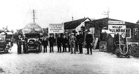 A Northern Ireland customs post near Newry c. 1922. Such posts became virtual armed camps with the IRA's increased activity along the border in early 1922. (PSNI)