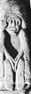 Corbel figure from St Francis's, Kilkenny, a Franciscan friary founded in 1232. (PDI Photography, Dublin)