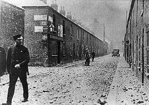 Police on patrol in the York Street area of Belfast c. 1922 after a night of rioting. (PSNI)