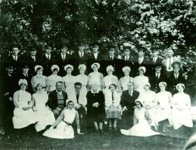 Staff photograph of St Brigid's c. 1935.