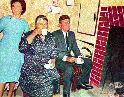 Only five months earlier President Kennedy had been sharing a cup of tea with his relations in Dunganstown, Co. Wexford.