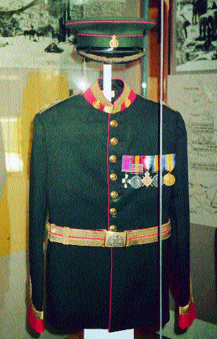 Patterson's dress uniform with medals enjoys a place of honour in the Jewish Legion's Museum.