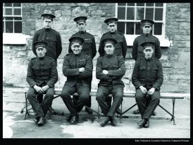 RIC constables c. 1920. The Prescott-Decie letter suggests the involvement in murderous reprisals of such regular, Irish-born members of the RIC and not just their Black-and-Tan and Auxiliary counterparts, and the commencement of reprisals months earlier than commonly believed. (Garda Archives)