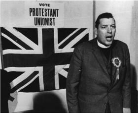 Revd Ian Paisley in 1969—never showed 'remorse for intemperate speech' yet remained adept at keeping a safe distance between himself and paramilitary loyalism.