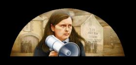 Robert Ballagh's 1999 'Battle of the Bogside, Portrait of Bernadette Devlin'. (Private Collection)