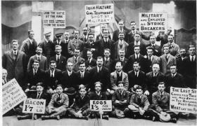 Striking postal workers in 1922- one of several defeats for organised labour during this period.