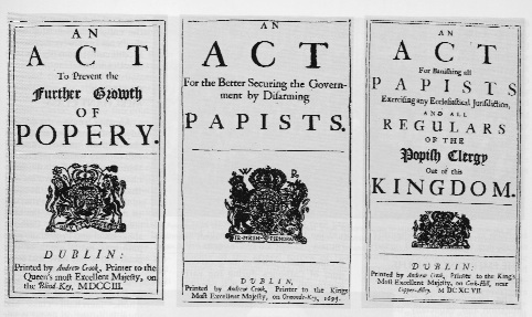 Various Acts against 'Popery'